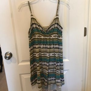 Strappy summer dress. Aztec/tribal print